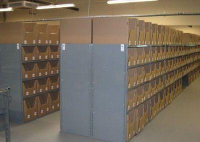 shelving with box orgainizer