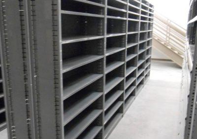 grey shelving