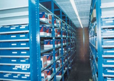 shelving with ac delco products