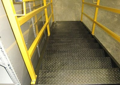stair supported mezzanine