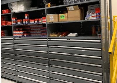 Greyshelving with drawers