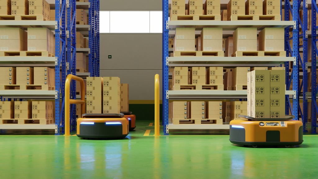 autonomous-mobile-robots-in-warehouse